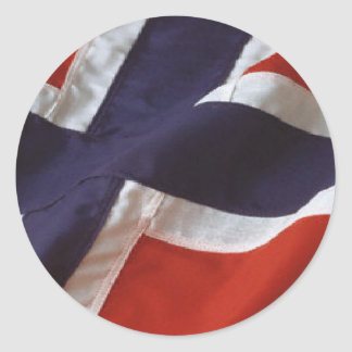 Norwegian Flag Round Sticker
