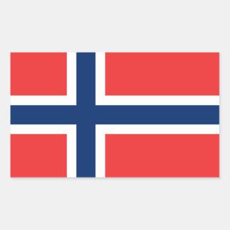 Norwegian Flag Rectangular Sticker