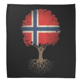 Norwegian Flag Tree of Life Customizable Bandana