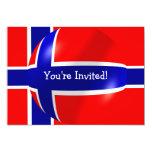 Norwegian Flag With Bubble Invitation