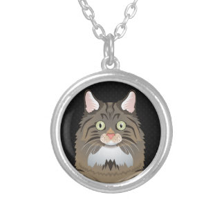 Norwegian Forest Cat Cartoon Paws Necklace