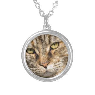 Norwegian Forest Cat Round Pendant Necklace
