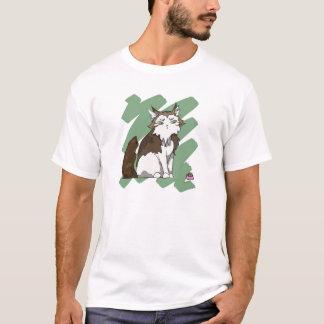 Norwegian Forest Cat scratch T-Shirt