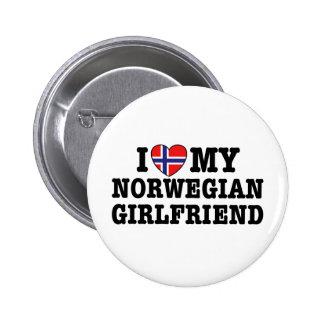Norwegian Girlfriend 6 Cm Round Badge