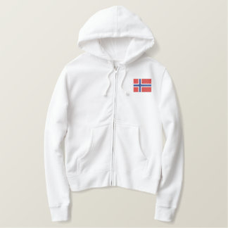 Norwegian  Hockey Scandinavian Sports Embroidered Hoodie