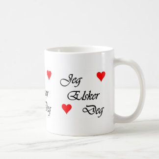 Norwegian I Love You Norsk Jeg Elsker Deg Mug