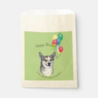 Norwegian Lundehund and Yellow Roses Favour Bags
