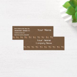 Norwegian Lundehund on Brown Mini Business Card
