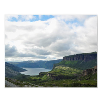 Norwegian mighty mountains and fjords poster