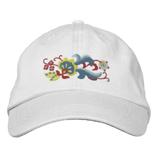 Norwegian Rosemaling Scroll Embroidered Hats