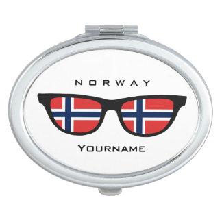 Norwegian Shades custom pocket mirror