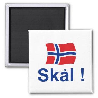 Norwegian Skal! (Cheers) Square Magnet
