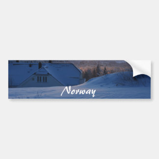 Norwegian Snow/Norway Bumper Sticker