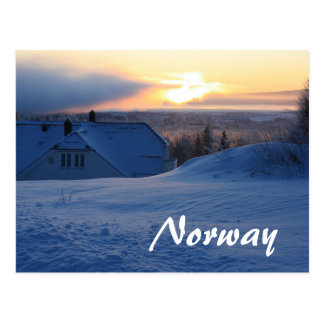 Norwegian Snow/Norway Postcard
