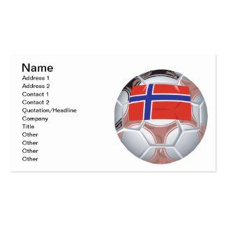Norwegian Soccer Ball Pack Of Standard Business Cards