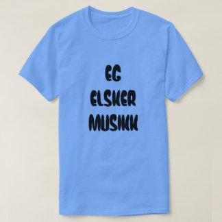 Norwegian text eg elsker musikk - I love music T-Shirt