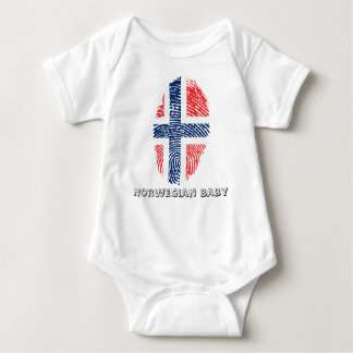 Norwegian touch fingerprint flag baby bodysuit