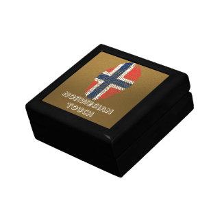 Norwegian touch fingerprint flag gift box