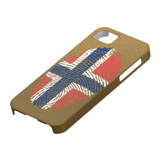 Norwegian touch fingerprint flag iPhone 5 cases