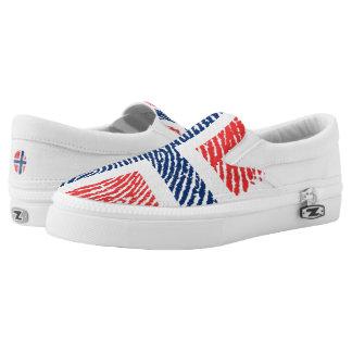 Norwegian touch fingerprint pattern slip on shoes