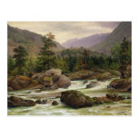 Norwegian Waterfall, 1840 Post Cards