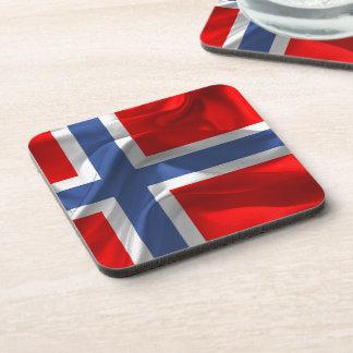 Norwegian waving flag coaster
