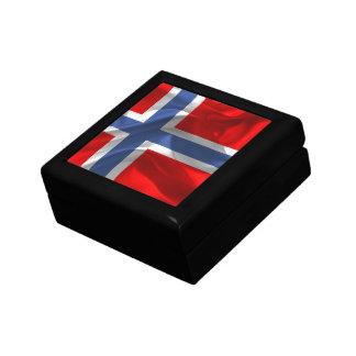 Norwegian waving flag gift box