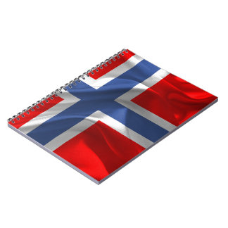Norwegian waving flag notebook
