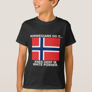 Norwegians Do It... Knee-Deep In White Powder. T-Shirt