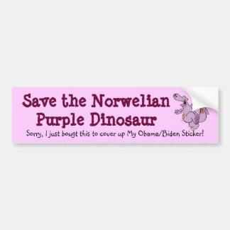 Norwelian Dinosaur Bumper Sticker