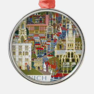 Norwich England Christmas Ornament