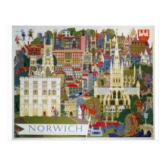 Norwich England Postcard