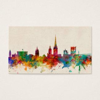 Norwich England Skyline Business Card
