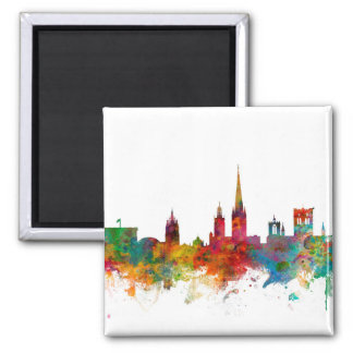 Norwich England Skyline Square Magnet