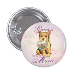 Norwich Heart Mom 3 Cm Round Badge