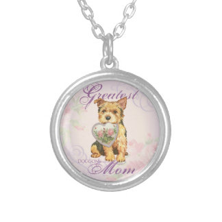 Norwich Heart Mom Silver Plated Necklace