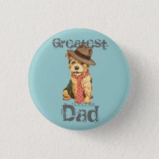 Norwich Terrier Dad 3 Cm Round Badge