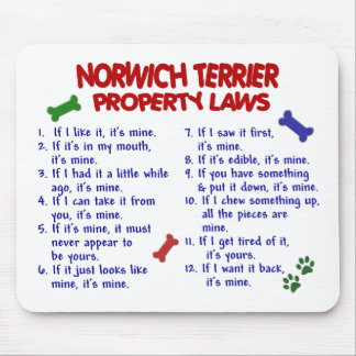 NORWICH TERRIER Property Laws 2 Mouse Mat