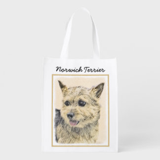 Norwich Terrier Reusable Grocery Bag