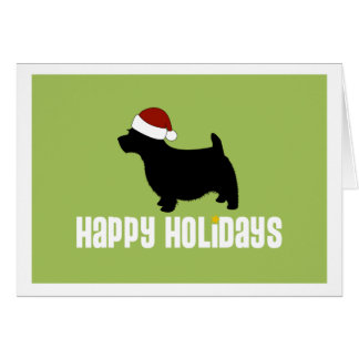 Norwich Terrier Santa Hat Card