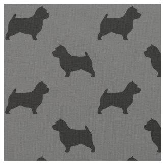 Norwich Terrier Silhouette Fabric