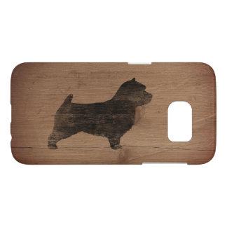 Norwich Terrier Silhouette Rustic
