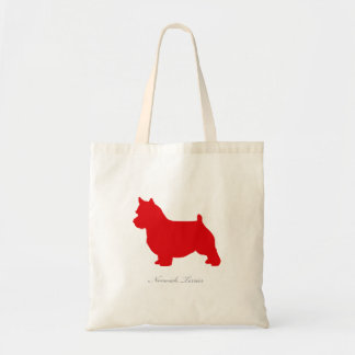 Norwich Terrier Tote Bag (red silhouette)