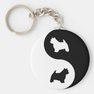 Norwich Terrier Yin Yang Key Ring