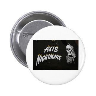 "Nose Art ""AXIS NIGHTMARE"" Bomber 6 Cm Round Badge"