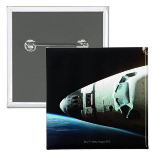 Nose of a Space Shuttle 15 Cm Square Badge
