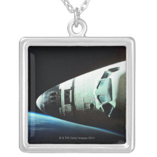 Nose of a Space Shuttle Silver Plated Necklace