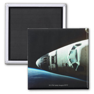 Nose of a Space Shuttle Square Magnet