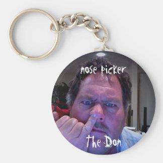 Nose Picker Basic Round Button Key Ring