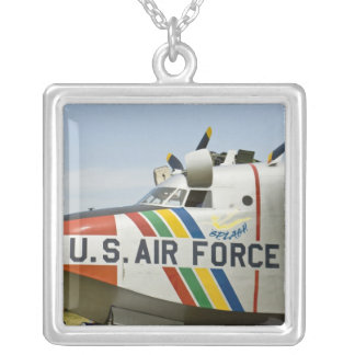 Nose section Air Force Grumman HU-16B Square Pendant Necklace